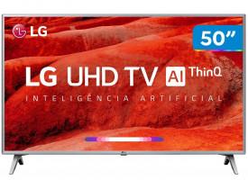 "Smart TV LED 50"" UHD 4K LG 50UM7510PSB com ThinQ AI Inteligência Artificial, Quad Core, HDR Ativo, DTS Virtual X, WebOS 4.5, Bluetooth, HDMI e USB"