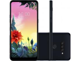 """Smartphone LG K50S Preto 32GB, Tela 6,5"""" Narrow Notch HD+ FullVision, Inteligência Artificial, Câmera Tripla, Selfie de 13MP e Processador Octa-Core"""