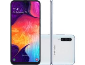 """Smartphone Samsung Galaxy A30s Branco 64GB, 4GB RAM, Tela Infinita de 6.4"""", Câmera Traseira Tripla, Leitor Digital na Tela, Android 9.0 e TV Digital"""