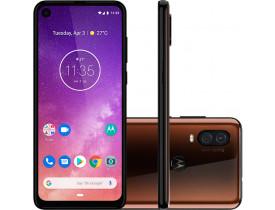 """Smartphone Motorola One Vision XT1970-1 Bronze 128GB, 4GB RAM, Tela de 6.3"""", Câmera Traseira Dupla, Octa-Core, Leitor Digital, Android 9.0"""