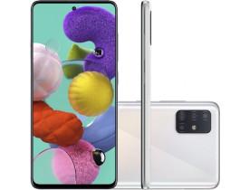 """Smartphone Samsung Galaxy A51 Branco 128GB, Tela Infinita de 6.5"""", Câmera Traseira Quádrupla, Leitor Digital na Tela, Android e Processador Octa-Core"""
