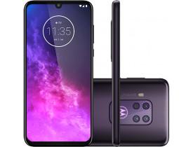 """Smartphone Motorola One Zoom Violet 128GB, 4GB RAM, Tela de 6.4"""", Câmera Traseira Quádrupla, Octa-Core, Leitor Digital, Android 9.0"""