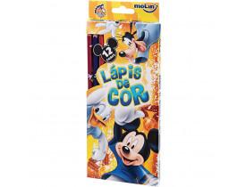 LáPis De Cor Molin Sextavado Mickey - 12 Cores