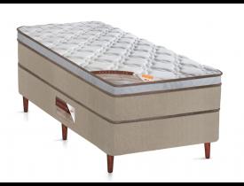 CONJUNTO BOX SOLTEIRO CASTOR REVOLUTION ONE FACE COM MOLA BONEL 66x88x188cm – BRANCO/BEGE