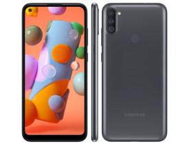 Celular Samsung Galaxy A11 64GB 4G Wi-Fi Tela 6.4'' Dual Chip 3GB RAM Câmera Tripla + Selfie 8MP - Preto