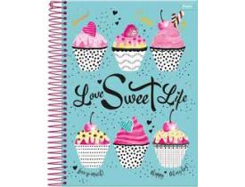 Caderno Cupcake 1 Matéria Capa Dura 96 Folhas Foroni