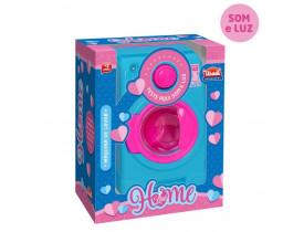 Maquina De Lavar Infantil Home Love Som E Luz Usual Brinquedo