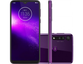 "Motorola One Macro 64GB Dual Chip Android Tela 6.2"" 4G 13MP + 2MP + 2MP - Ultra Violet"