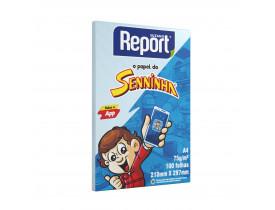 Papel Sulfite Senninha A4 75G 100 Folhas Azul
