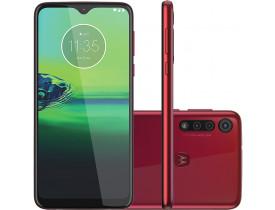 """Smartphone Motorola Moto G8 Play Vermelho Magenta 32GB, Tela Max Vision de 6.2"""" HD+, Câmera Traseira Tripla, Android 9.0 e Processador Octa-Core"""
