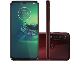 """Smartphone Motorola Moto G8 Plus Cereja 64GB, Tela Max Vision de 6.3"""" FHD+, Câmera Traseira Tripla, Android 9.0 e Processador Qualcomm Octa-Core"""