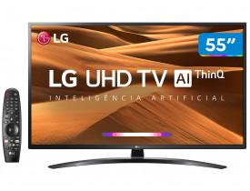 "Smart TV LED 55"" UHD 4K LG 55UM7470PSA ThinQ AI Inteligência Artificial com IoT, HDR Ativo, WebOS 4.5, DTS Virtual X, Controle Smart Magic e Bluetooth"