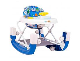 Andador Balanço 8 Rodas Regulavel Azul