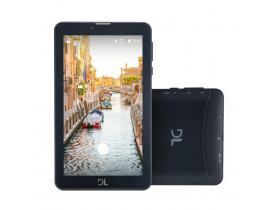"""Tablet DL Mobi Tab Preto com Tela de 7"""", 8GB, Dual Chip, Função Smartphone, Câmera, 3G, Wi-Fi, Android 7.0, Processador Quad Core de 1.3 Ghz"""