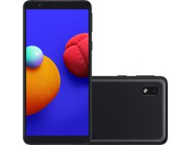 Celular Samsung Galaxy A01 Core 32GB 4G Wi-Fi Tela 5.3'' Dual Chip 2GB RAM Câmera 8MP + Selfie 5MP - Preto