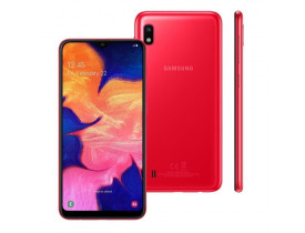 """Celular Samsung Galaxy A10s 32GB Vermelho - 4G 2GB RAM 6,2"""" Câm. Dupla + Selfie 8MP"""