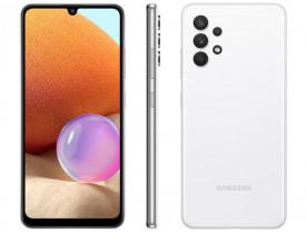 """Celular Samsung Galaxy A32 128GB Branco 4G - 4GB RAM Tela 6,4"""" Câm. Quádrupla + Selfie 20MP"""