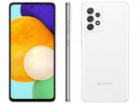 """Celular Samsung Galaxy A52 128GB Branco 4G - 6GB RAM Tela 6,5"""" Câm. Quádrupla + Selfie 32M"""