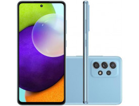 """Celular Samsung Galaxy A52 Azul 128GB, 6GB de RAM, Tela Infinita 6.5"""", Câmera Traseira Quádrupla, Bateria de 4500mAh, Dual Chip e Octa Core"""