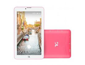 """Tablet DL Mobi Tab Rosa com Tela de 7"""", 8GB, Dual Chip, Função Smartphone, Câmera, 3G, Wi-Fi, Android 7.0, Processador Quad Core de 1.3 Ghz"""