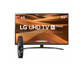 "Smart TV LED 65"" UHD 4K LG 65UM7470PSA ThinQ AI Inteligência Artificial com IoT, HDR Ativo, WebOS 4.5, DTS Virtual X, Controle Smart Magic e Bluetooth"