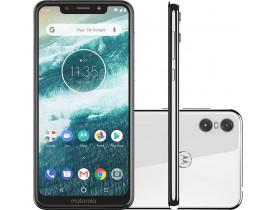 "Smartphone Motorola One 64GB Dual Chip Android Oreo 8.1 Tela 5.9"" 2.0 GHz Octa-Core Qualcomm 4G Câmera Branco"
