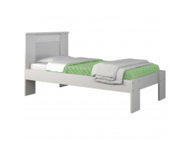 Cama Solteiro New Emilia Branca Flex Color Moval