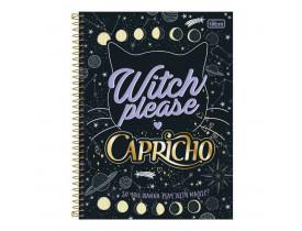 Caderno Espiral Capa Dura Universitário 10 Matérias 200 Folhas Capricho Witch Please Tilibra
