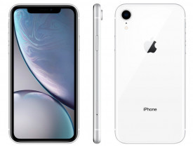 "iPhone XR Apple 64GB Branco 4G Tela 6,1"" Retina - Câmera 12MP + Selfie 7MP iOS 12 Proc. Chip A12"