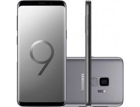 "Smartphone Samsung Galaxy S9 Dual Chip Android 8.0 Tela 5.8"" Octa-Core 2.8GHz 128GB 4G Câmera 12MP - Cinza"