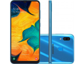 Smartphone Samsung Galaxy A30 64GB Dual Chip Android 9.0 Tela 6.4 Azul