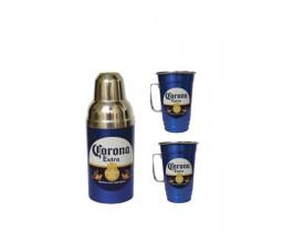 Kit Beer Aluminio 3 Peças Corona Extra