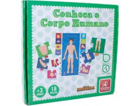 Brinquedo Pedagogico de Madeira Conheça o Corpo Humano