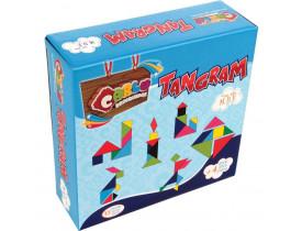 Brinquedo Pedagogico Madeira Tangram 35 Pecas Carlu