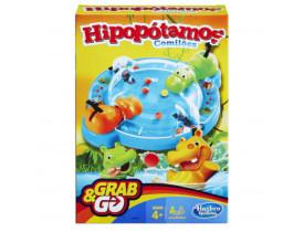 Jogo Hipopótamo Comilão Grab & Go Hasbro - B1001