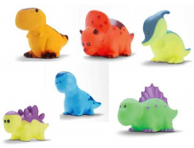 Kit C/ 6 Bonecos Funny Dino Dinossauros Em Vinil - Bee Toys