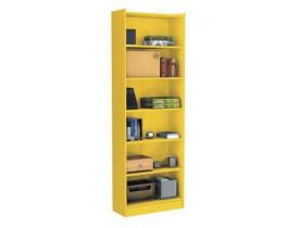 Estante para Livro 5 Prateleiras Moderno Zanzini Amarelo