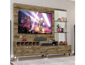 Estante Home Exuberante 2,17m para TV até 60 Exuberante Demolição