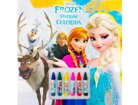 Livro   Disney: Diversão Colorida  Frozen