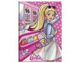 Caderno Foroni 1/4 Brochura Capa Dura 96 Folhas Barbie Ref 02