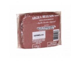 Kit Com 14  Argila Escolar Vermelha 1kg - Rezende