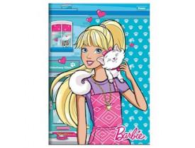 Caderno Brochura Pequeno Capa Dura Costurado 96 Fls Foroni Barbie