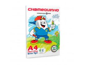 Papel Sulfite Chamequinho Branco 75g A4 100 Folhas - 1 Pacote