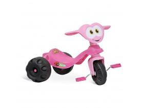 Triciclo Baixo Infantil Bandeirante Zootico Joaninha Rosa