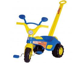 Triciclo Infantil Blue Music Com Haste E Buzina 1832 - Cotiplás
