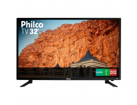"TV LED 32"" Philco PTV32C30D HD com Conversor Digital 2 HDMI 1 USB 60Hz  Preta"