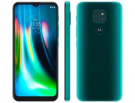 "Smartphone Motorola Moto G9 Play 64GB Verde - Turquesa 4GB RAM 6,5"" Câm. Tripla + Selfie 8MP"