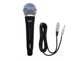Microfone Dinâmico Profissonal + Cabo 4 Metros Performance Sound