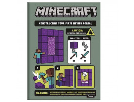 Caderno Brochura Pequeno Minecraft  Warning  Foroni