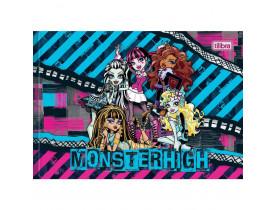 Caderno Desenho 1/4 Capa Dura Monster High 40f Folhas Brochura Tilibra